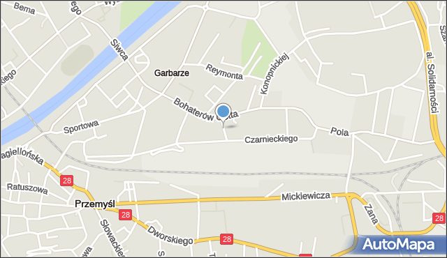 Przemyśl, Łukasiewicza Ignacego, mapa Przemyśla