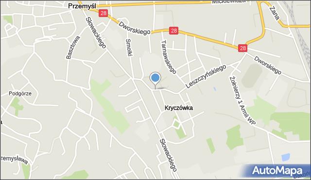 Przemyśl, Łukasińskiego Waleriana, mjr., mapa Przemyśla