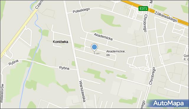 Radom, Lutosławskiego Witolda, mapa Radomia
