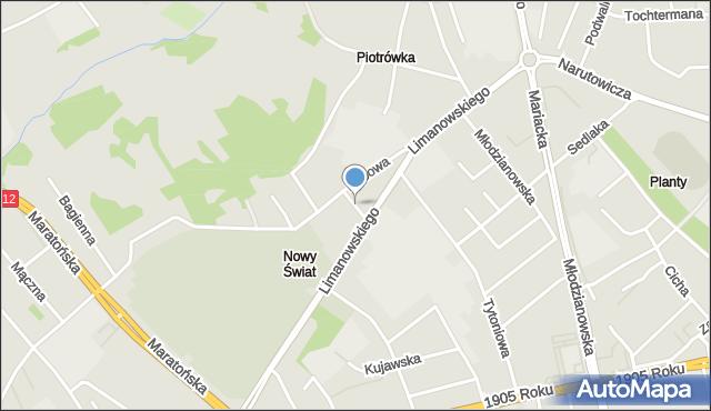 Radom, Lustrzana, mapa Radomia