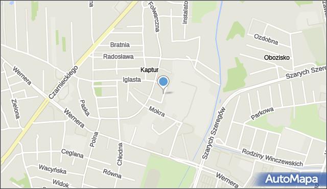 Radom, Luźna, mapa Radomia