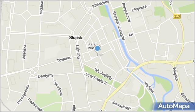 Słupsk, Łukasiewicza Ignacego, mapa Słupska