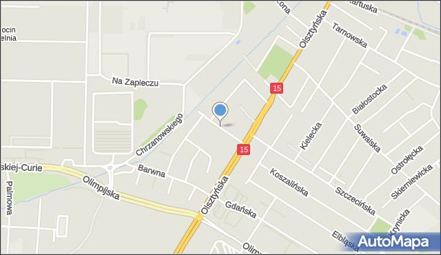 Toruń, Luba, mapa Torunia
