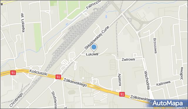 Toruń, Łukowa, mapa Torunia