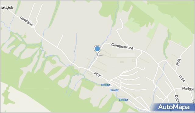 Ustrzyki Dolne, Łukasiewicza Ignacego, mapa Ustrzyki Dolne