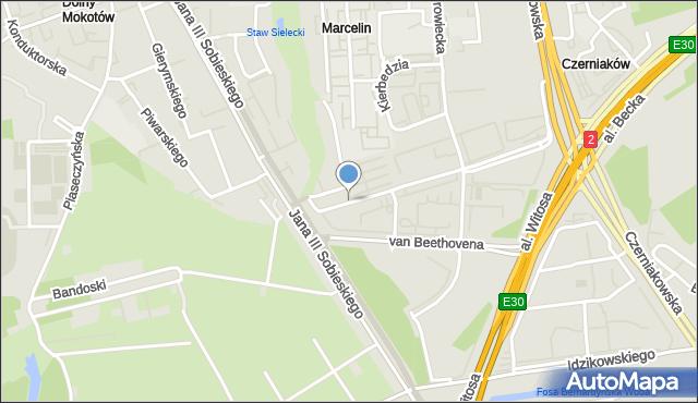 Warszawa, Ludwiżanki Barbary, mapa Warszawy