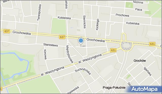 Warszawa, Lubomira, mapa Warszawy