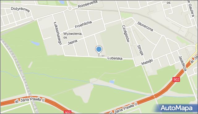 Zabrze, Lubelska, mapa Zabrza