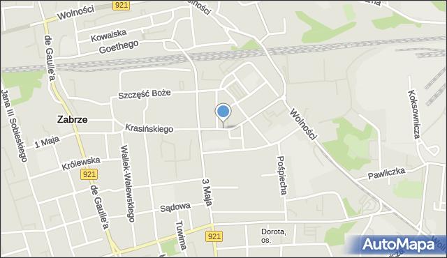 Zabrze, Lutra Marcina, mapa Zabrza