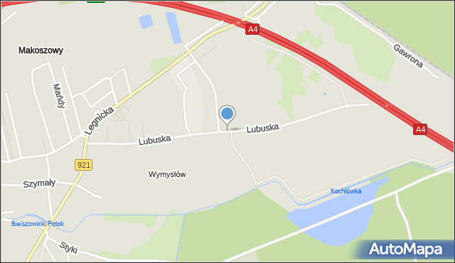 Zabrze, Lubuska, mapa Zabrza