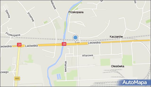 Przemyśl, Lwowska, mapa Przemyśla