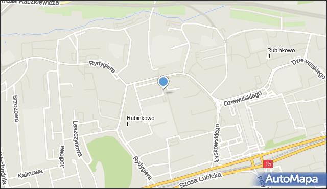 Toruń, Łyskowskiego Ignacego, mapa Torunia