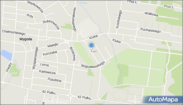 Białystok, Makuszyńskiego Kornela, mapa Białegostoku