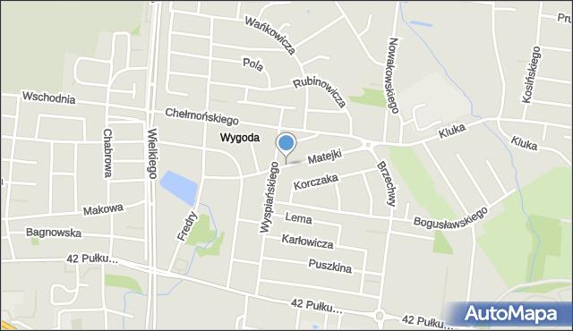 Białystok, Matejki Jana, mapa Białegostoku
