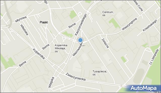 Białystok, Mazowiecka, mapa Białegostoku
