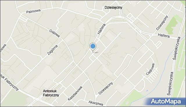 Białystok, Malinowa, mapa Białegostoku