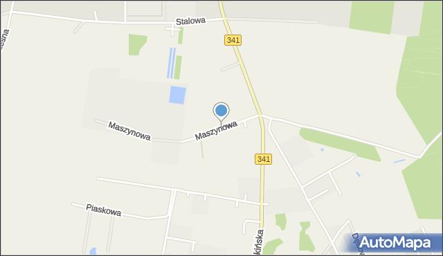 Błonie gmina Miękinia, Maszynowa, mapa Błonie gmina Miękinia