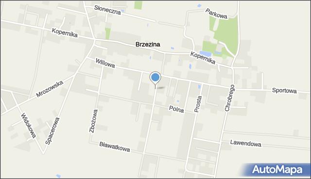 Brzezina gmina Miękinia, Markowa, mapa Brzezina gmina Miękinia