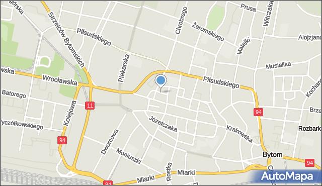Bytom, Mariacka, mapa Bytomia