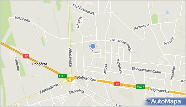 Chełm, Makowa, mapa Chełma