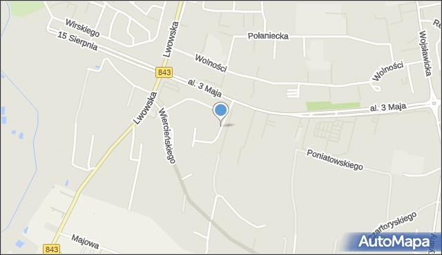 Chełm, Małachowskiego Stanisława, mapa Chełma
