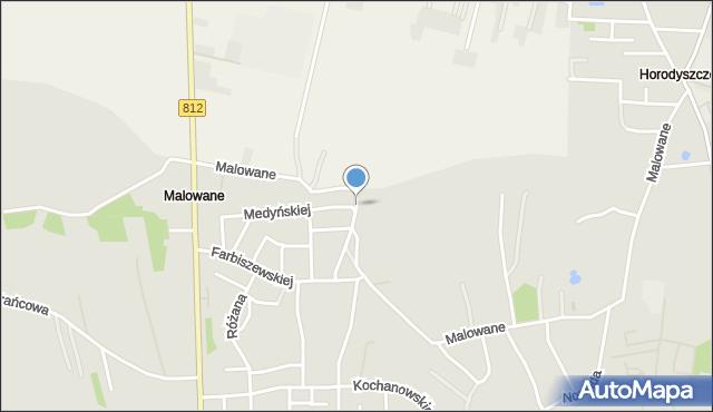 Chełm, Malowane, mapa Chełma