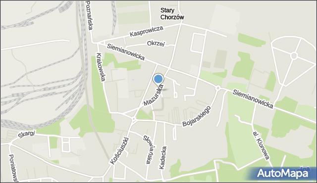 Chorzów, Mazurska, mapa Chorzów