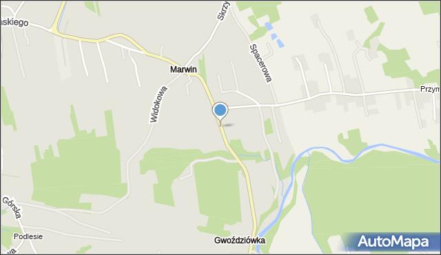 Dobczyce, Marwin, mapa Dobczyce