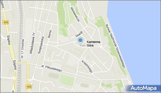 Gdynia, Mariacka, mapa Gdyni