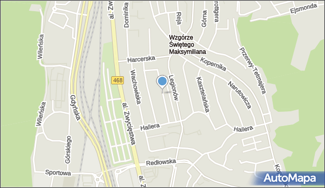 Gdynia, Maczka Stanisława, gen., mapa Gdyni