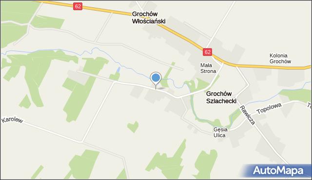 Grochów Włościański, Mała Strona, mapa Grochów Włościański