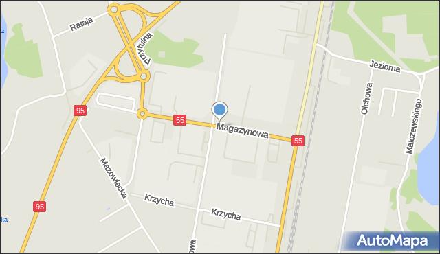 Grudziądz, Magazynowa, mapa Grudziądza