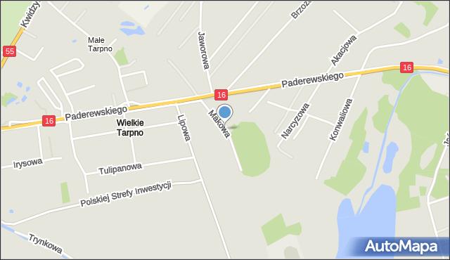 Grudziądz, Makowa, mapa Grudziądza