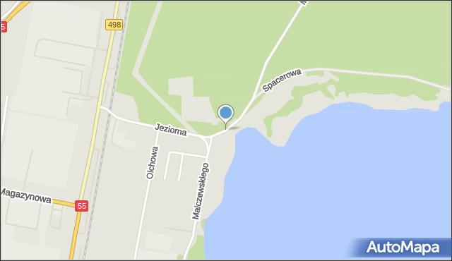 Grudziądz, Malczewskiego Jacka, mapa Grudziądza