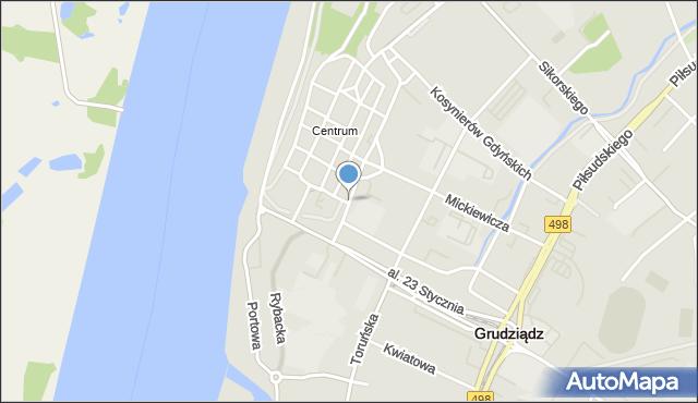 Grudziądz, Małogroblowa, mapa Grudziądza