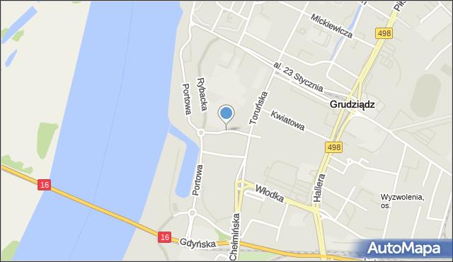 Grudziądz, Marcinkowskiego, mapa Grudziądza