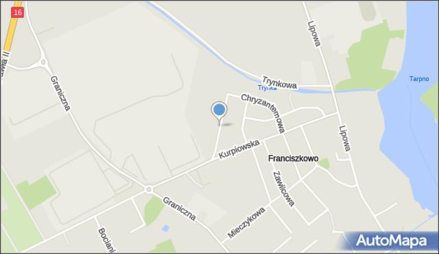 Grudziądz, Margaretkowa, mapa Grudziądza