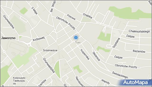 Jaworzno, Mały Rynek, mapa Jaworzno