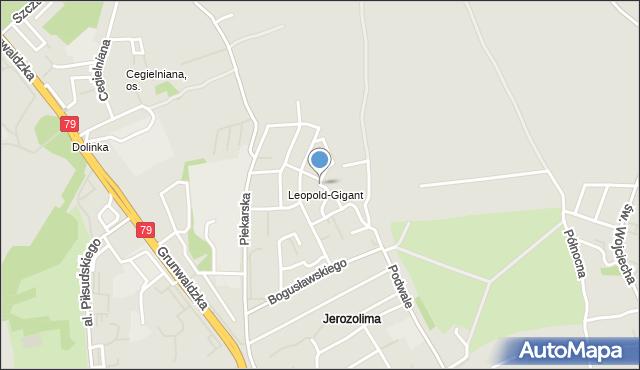 Jaworzno, Marmurowa, mapa Jaworzno