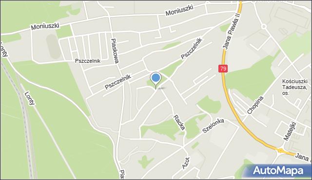 Jaworzno, Marusarzówny Heleny, mapa Jaworzno