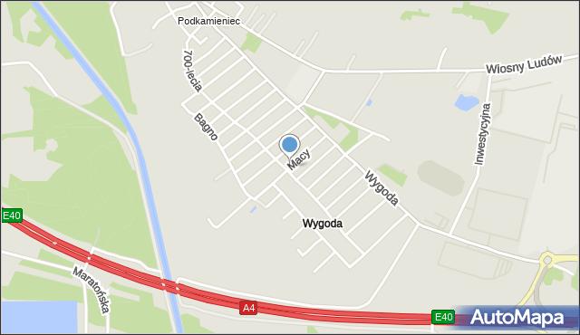Jaworzno, Macy Józefa, mapa Jaworzno
