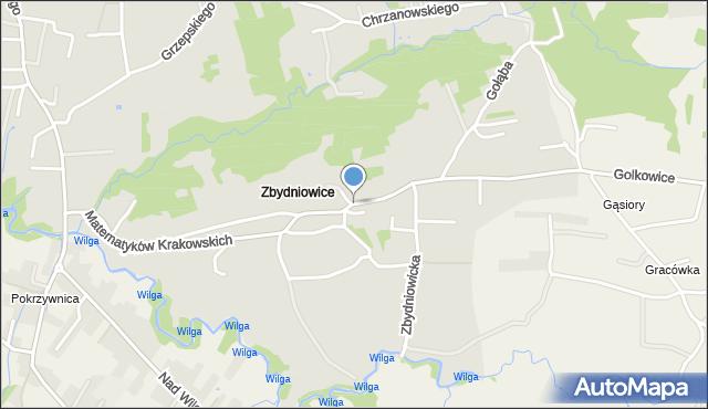 Kraków, Matematyków Krakowskich, mapa Krakowa