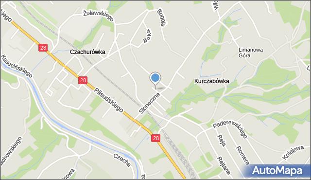 Limanowa, Mączeńskiego Zdzisława, mapa Limanowa
