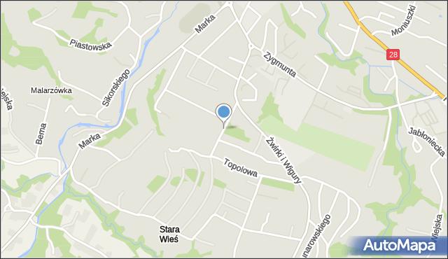 Limanowa, Marszałkowicza Maksymiliana, mapa Limanowa