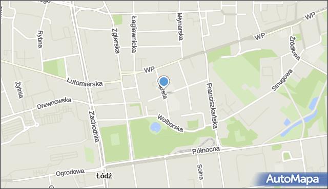 Łódź, Majzela Eliasza Chaima, mapa Łodzi