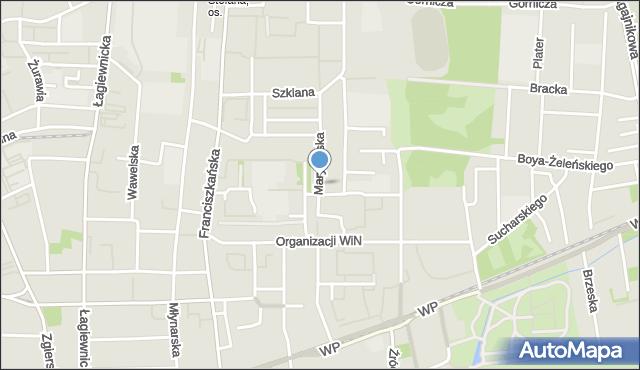 Łódź, Marynarska, mapa Łodzi
