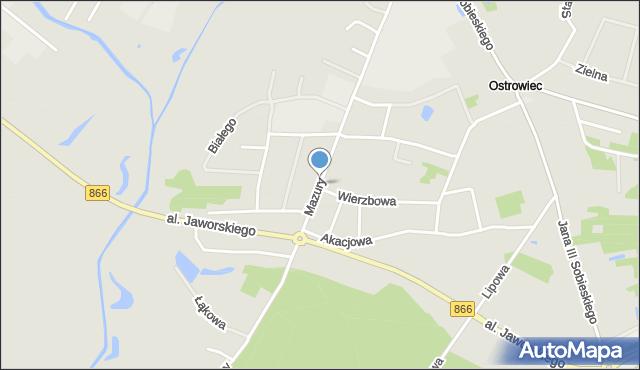 Lubaczów, Mazury, mapa Lubaczów