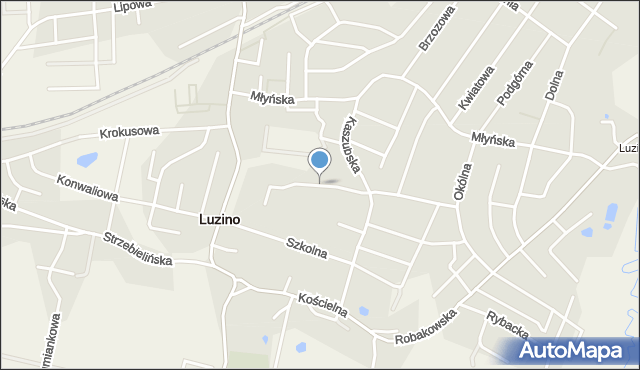 Luzino, Machalewskiego, ks., mapa Luzino