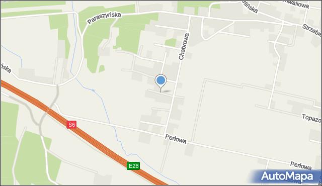 Luzino, Malinowa, mapa Luzino