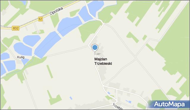 Majdan Trzebieski, Majdan Trzebieski, mapa Majdan Trzebieski
